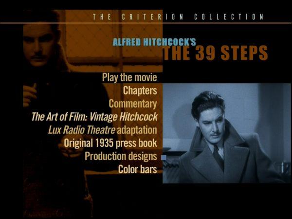 die-39-stufen-dvd-usa-criterion-hauptmenue
